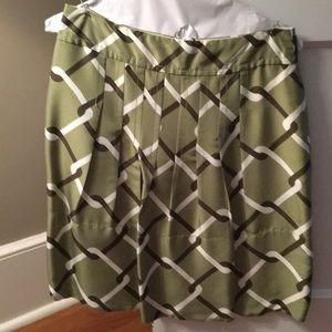 Banana Republic green geometric skirt